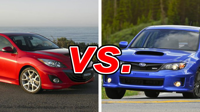 Build Your Own Subaru >> Mazda MAZDASPEED3 vs. Subaru Impreza WRX - CarsDirect