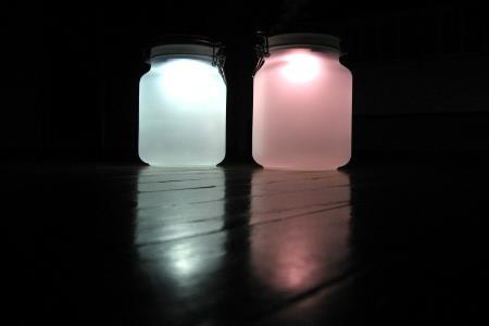 Outdoor lighting mason jars and solar power - Do it yourself light fixtures ...