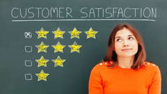 A business owner with a customer satisfaction score of 5 stars.