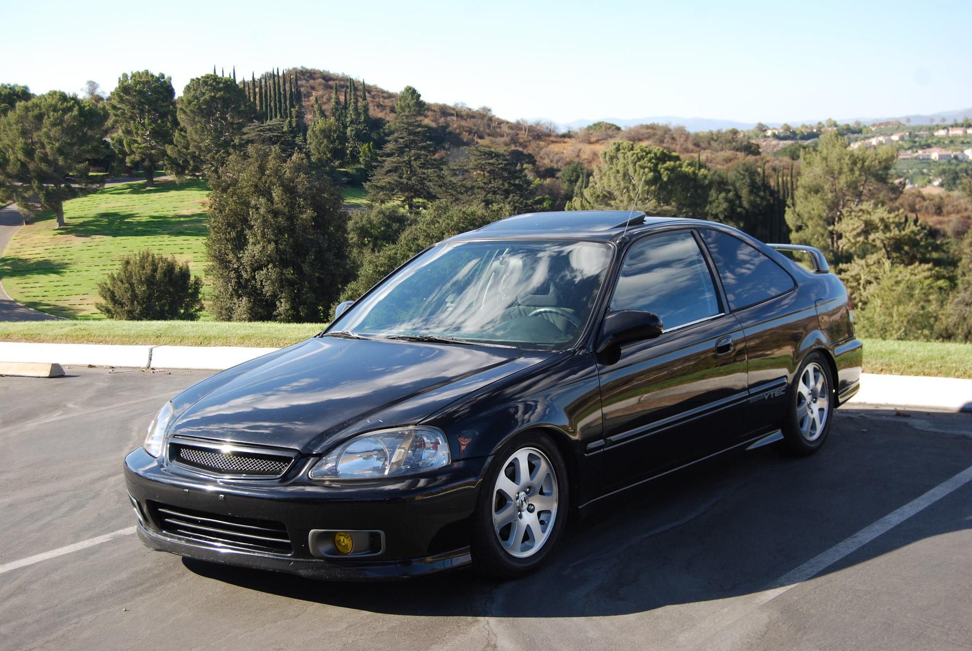 2000 Civic Si, Flamenco Black Pearl. Clean title!