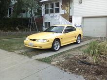 My Yellow 98 Stang