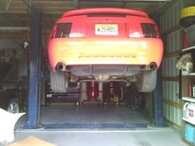 getting ready for the new exhaust