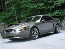2002 Mineral Grey Mustang GT Convert.