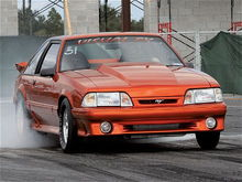 mmfp 0810 01 z 1990 ford mustang gt burnout