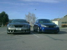 Left: buddy chris's 2002 saleen s281 #593, right: my 2002 svt focus