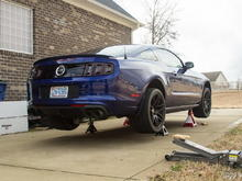 Installing over axles and Roush side splitters