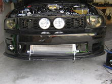 intercooler being mocked up