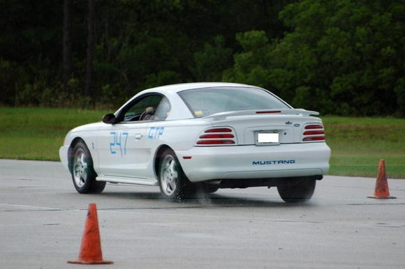 Gainesville test track: rain = no traction