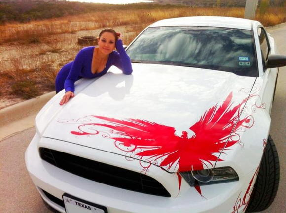 Oh, just me and my mustang...
