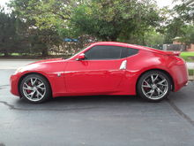 2014 Solid Red 370z Sport Package.