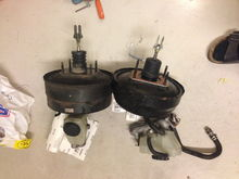 Mastercylinder + brake booster from a -96 LS400 (right)  to replace stock sc300 (left) (Needed if I want to register the car as a rebuilt vehicle here in Sweden)