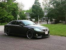 Satin Black Wrap w Hexis Aligiator Wrap Lexani R12's Staggered