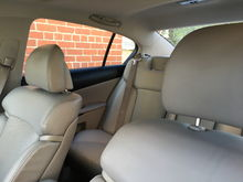 backseat headrests were found in garage and replaced