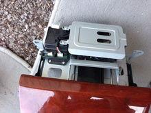 Top view of radio door assembly