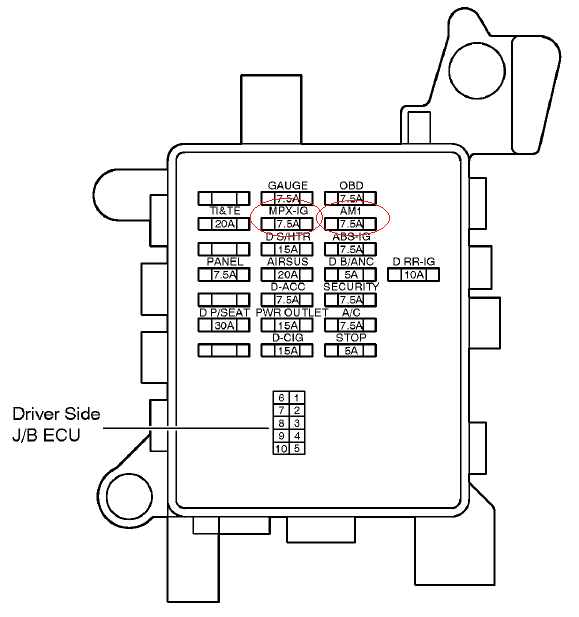 lexus is200 fuse box driver side diagram fuse location for ls430 puddle light in the door mirror ... lexus 450h fuse box #12