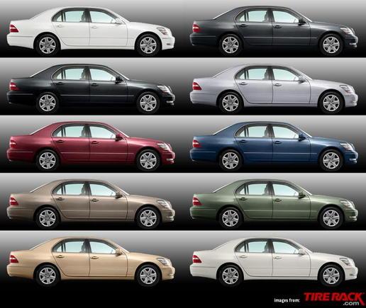 2005LS430 Model Colors