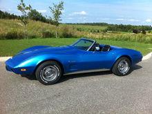 Sebastian's 75 blue convertible