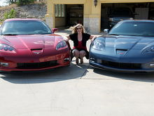His and Her vettes.