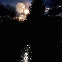 Moonrise in Garden 3-26-13