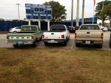 Mine and my buddy's trucks!
