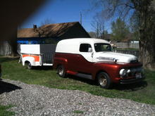 Swoopie with his matching '48 trailer