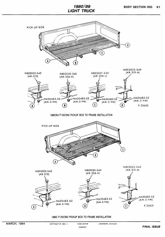 truck utility bed parts
