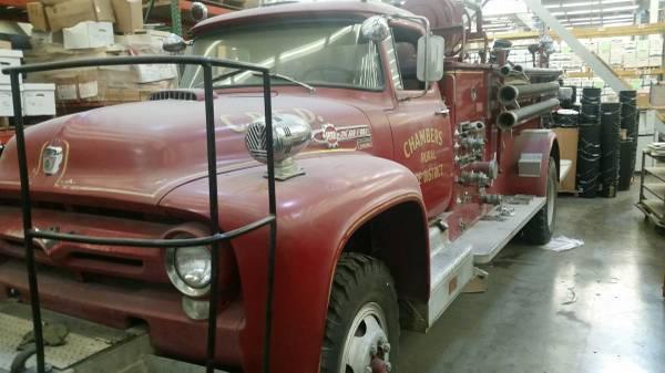 1956 Ford Fire Truck : Craigslist big job m h fire truck ford
