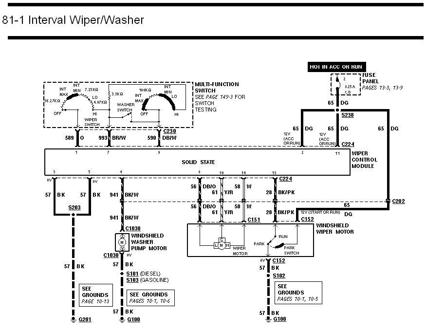 where is the wiper relay located on a 2002 f250
