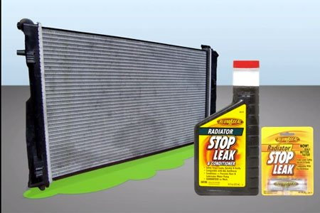 use a commercial leak sealant how to fix leaking radiator
