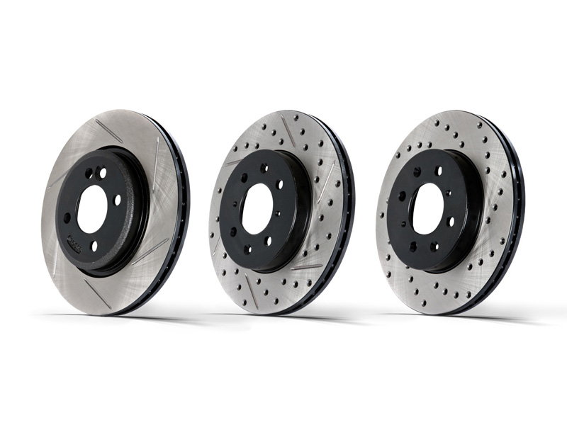 Slotted, Drilled and Slotted, and Drilled Rotors