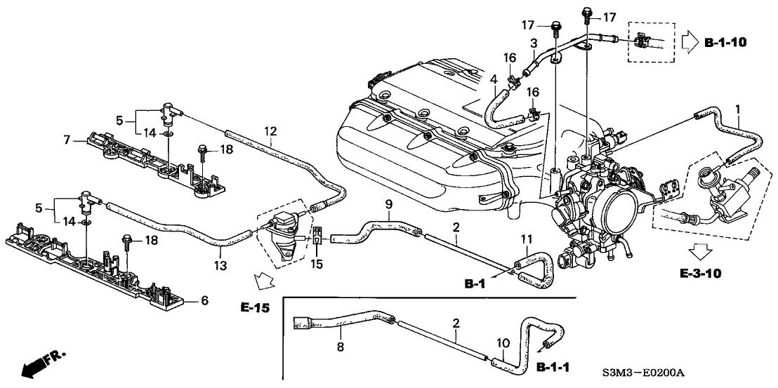 Lower Intake Manifold Vacuum Connection? - AcuraZine - Acura Enthusiast  Community | Acura Vacuum Diagram |  | AcuraZine