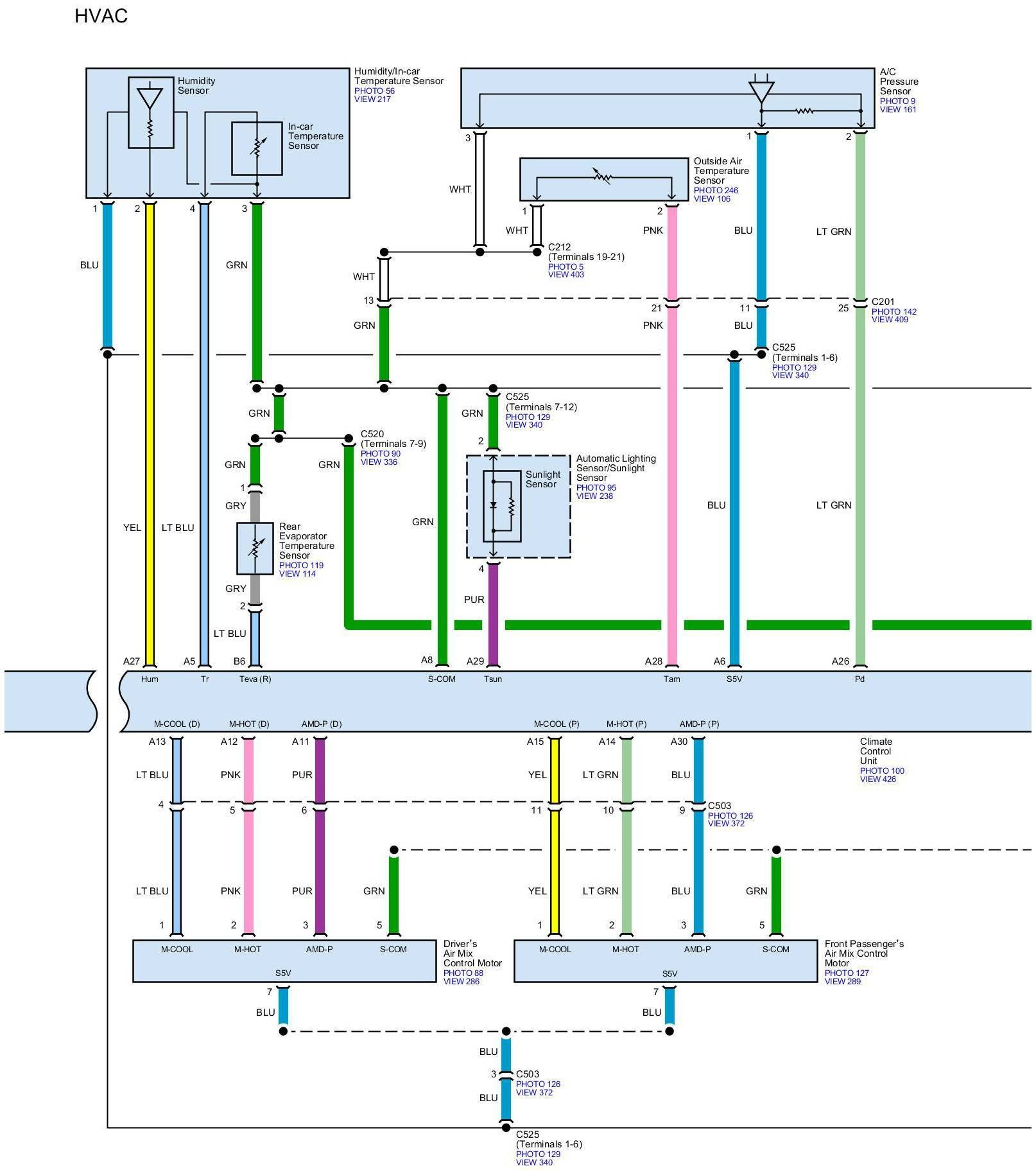 RL: Need Climate Control Wiring Diagrams For Any Model