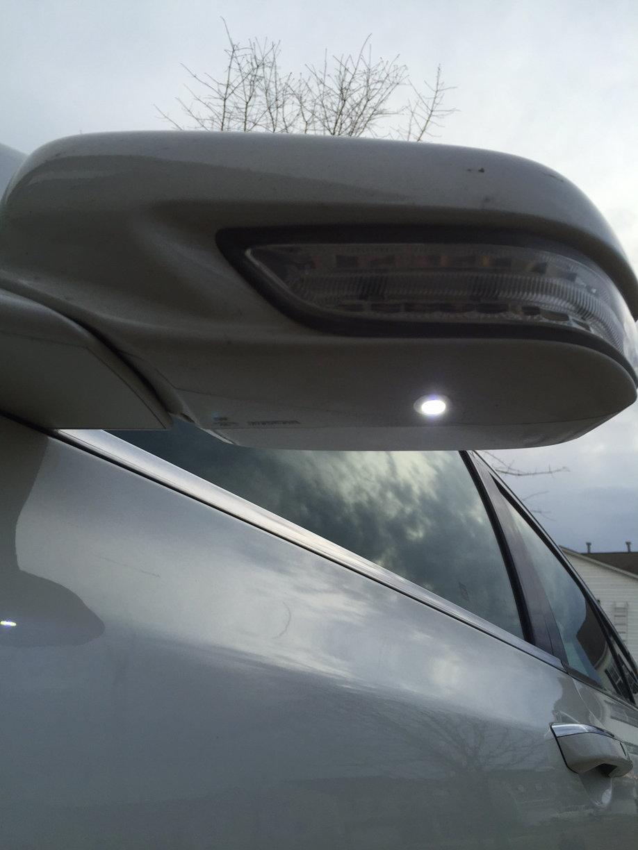 Puddle Lights Installed Acurazine Acura Enthusiast