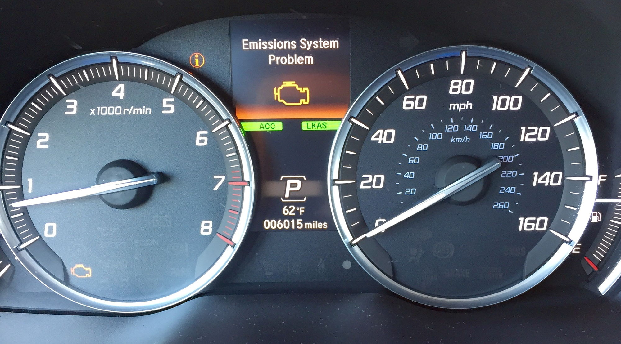 emissions system problem in 2016 mdx - acurazine