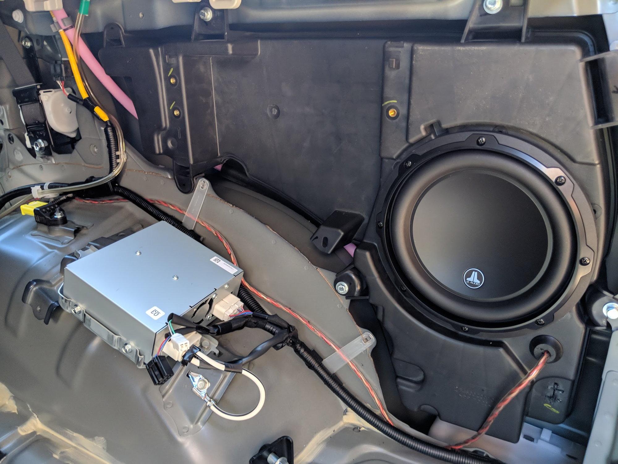 gen 5th 4runner row enclosure third subwoofer sub toyota rear install seat jbl pocket removal remove panel location sr5 had