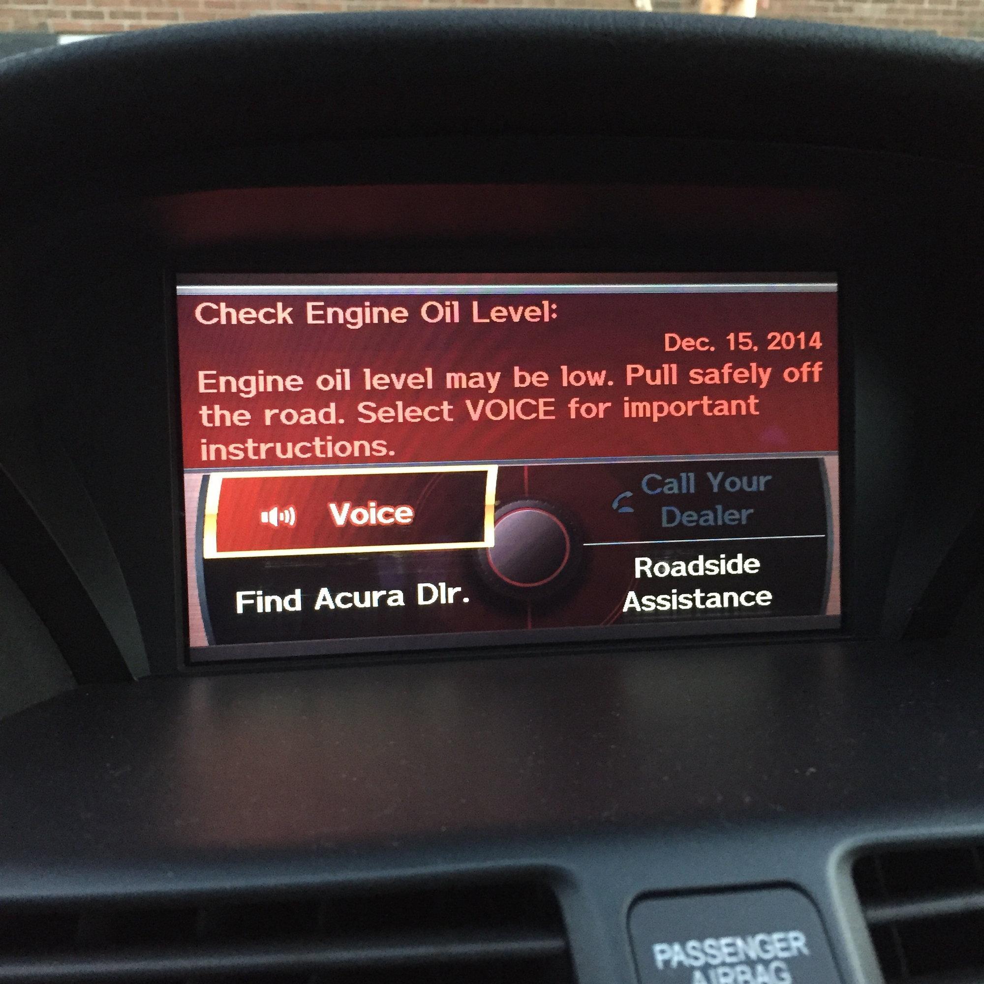 TL '09 Check Engine Light On