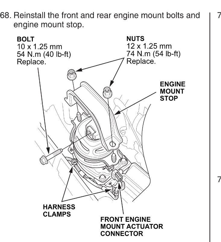 Rear Mount Bolt Torque Spec Acurazine Acura Enthusiast Munityrhacurazine: Honda Odyssey Engine Mount Schematics At Gmaili.net