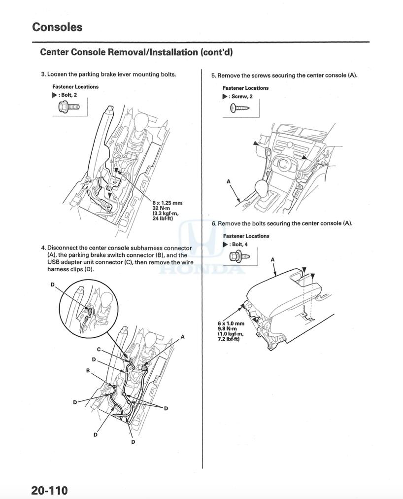 [2011 Acura Tl Gear Shift Console Removal]