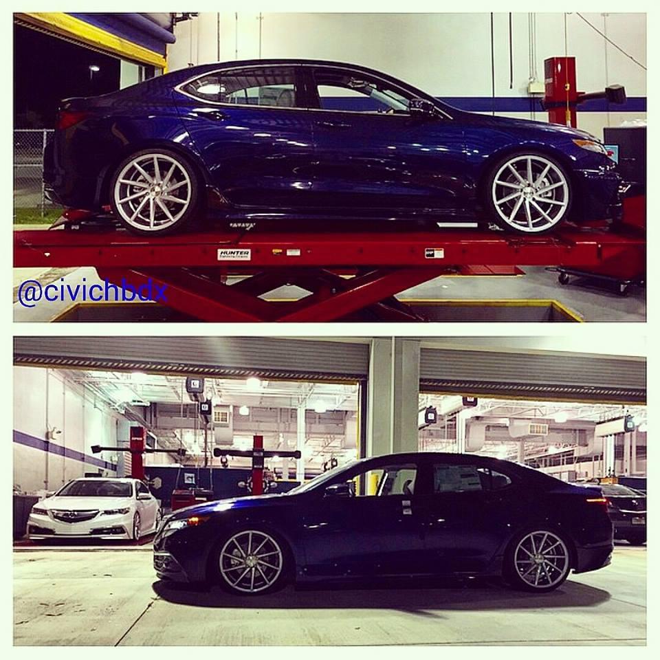 "2015 TLX Fathom Blue On 20"" Vossen CVT Wheels"