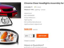 Chrome headlight for Impala
