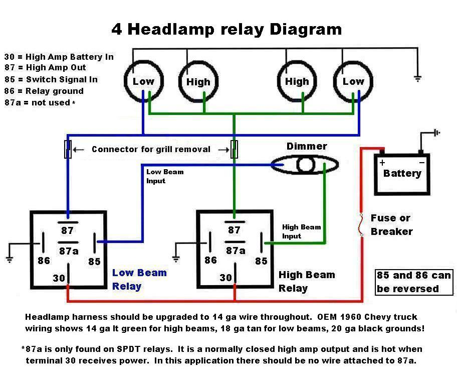Headlight Relay Installation Directions