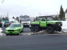 Fraternal Twins.  07 Daytona and Dodge T-Rex