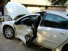 my kids car after Firebird ran red kight
