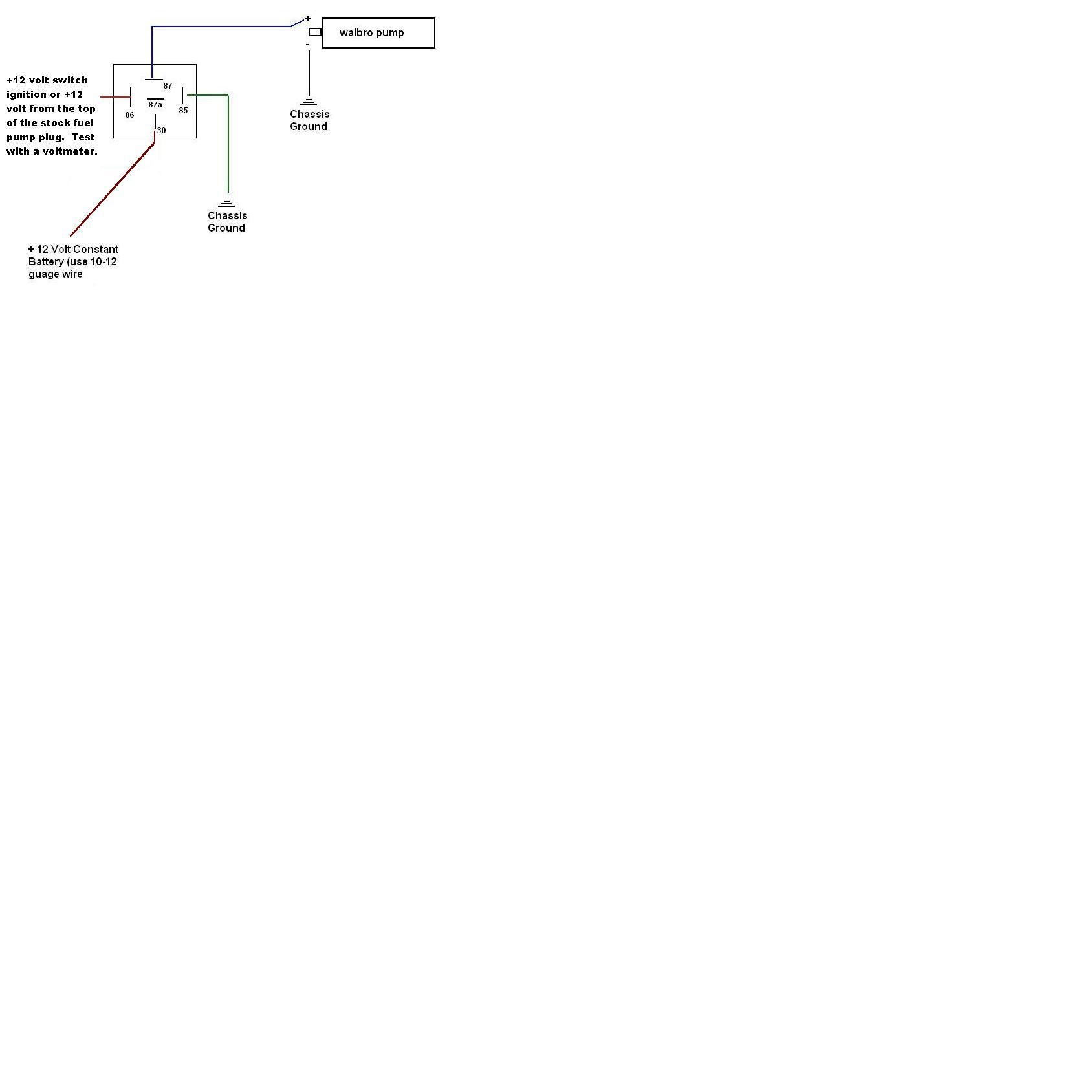 magnafuel duel relays ls1tech camaro and firebird forum discussion rh ls1tech com Bosch 12V Relay Wiring Diagram 1-Wire Alternator Wiring Diagram