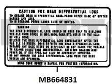 Diff Lock Label