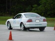 Gainesville test track: rain = no traction