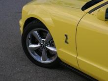 Yellow Mustang wheel