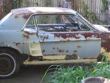 """crazy! coupe to fastback project! """"Frankenstang!"""""""