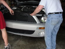 Dad and I installing the GT500 front