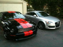 cousins from different sides of the water. both fun to drive